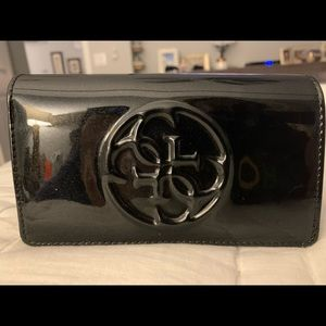 Guess Pat and leather wallet/clutch